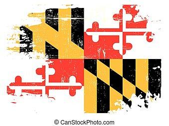 Bandera de Maryland arañada