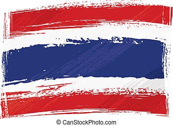 bandera de tailandia, grunge