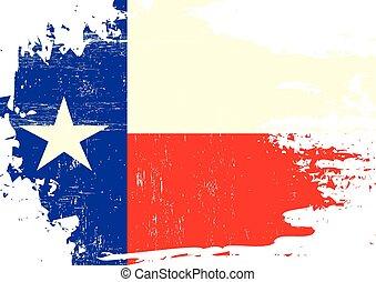 Bandera de Texas arañada