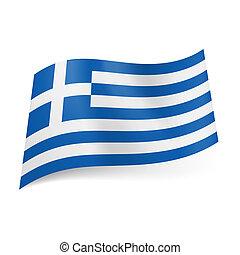 Bandera estatal de Grecia.