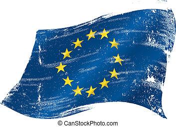 Bandera europea grunge