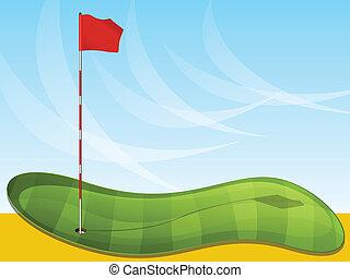 bandera, golf, plano de fondo