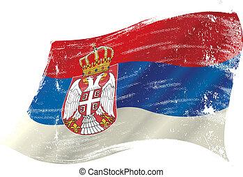 Bandera grunge serbia