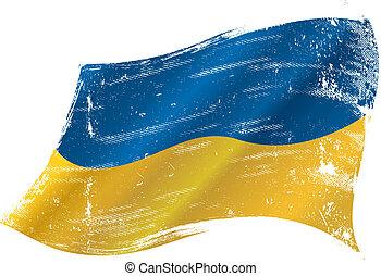 Bandera grunge ucraniana