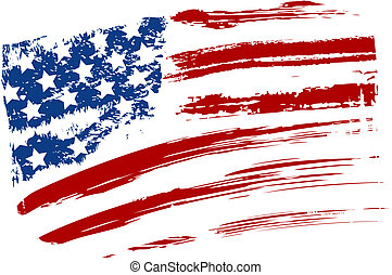Bandera Grunge USA