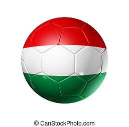 bandera hungría, pelota, fútbol, futbol
