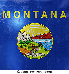 bandera, icono, estado, montana