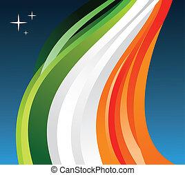 bandera, irlanda, ilustración