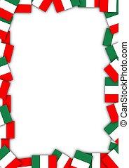 bandera italy, frontera