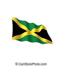 Bandera Jamaica, ilustración vectorial