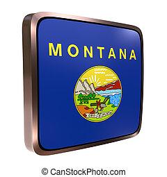 bandera, montana, icono