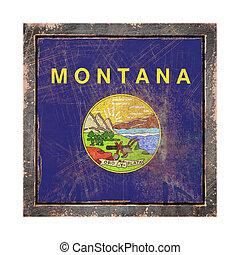 bandera, montana, viejo