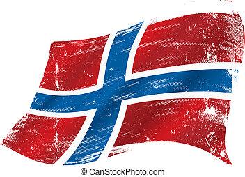 bandera noruega, grunge