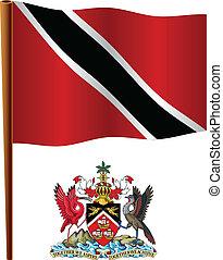 bandera, ondulado, tobago, trinidad