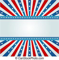 bandera, spangled, estrella