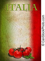 bandera, tomates, italiano