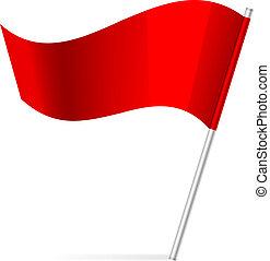 bandera, vector, ilustración