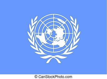 bandera, vector, naciones unidas
