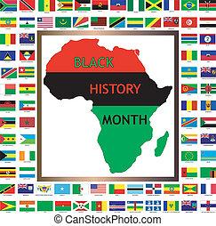 banderas africanas y negras