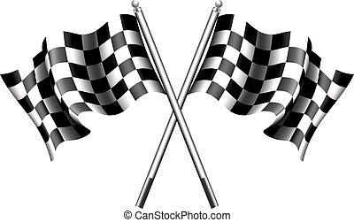 Banderas Chequered, carreras motoras
