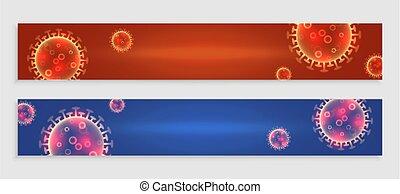 banderas, espacio, texto, covid-19, conjunto, coronavirus