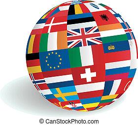 Banderas europeas en el mundo