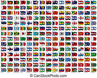 Banderas mundiales listas