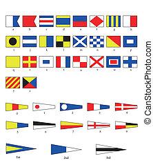 banderas, náutico