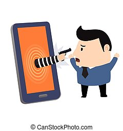 Bandido en smartphone