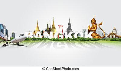 bangkok, viaje, concepto