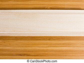 Banner de madera natural