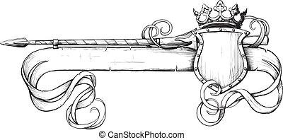Banner lanza y corona