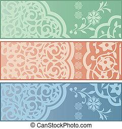 Banners con adornos islámicos