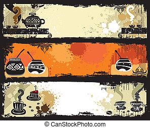 banners., yerba, compañero, té, café