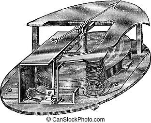 Barómetro de barómetros antiguos grabados