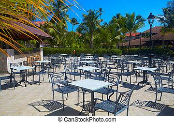 Bar Resto en el centro turístico tropical