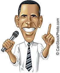 barack, caricatura, obama