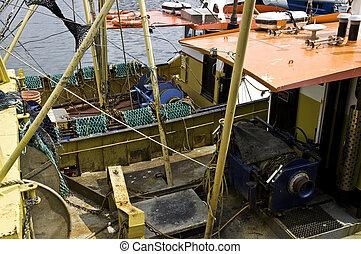 """Barco de pesca en el """"Barbican"""" en Plymouth"""