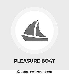 barco de recreo, icono