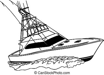 Barco deportivo de pesca