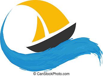 Barco navegando en el agua