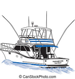 Barco pesquero de deportes