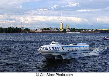 barco, petersburg, santo