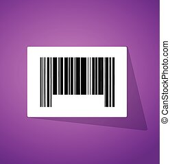barcode, código, ilustración, aumentar