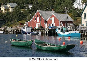 barcos, bahía