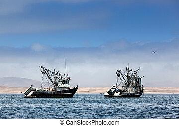 Barcos de pesca en la bahía