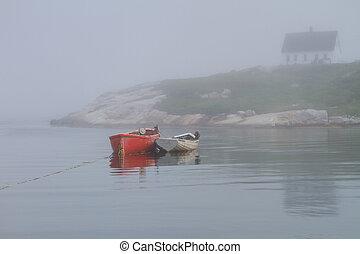 Barcos en la cala de Peggy