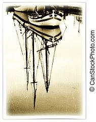 Barcos viejos en el puerto
