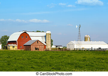 Barn y silos