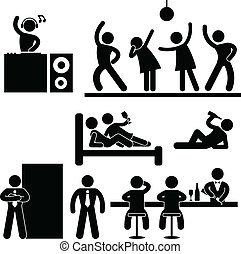 barra, club, bar, disco, noche, fiesta